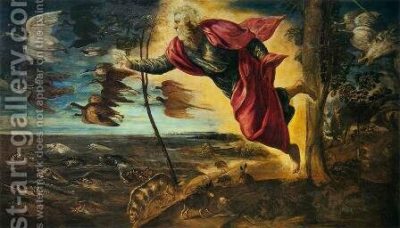 The Creation of the Animals by Jacopo Tintoretto (Robusti) - Reproduction Oil Painting