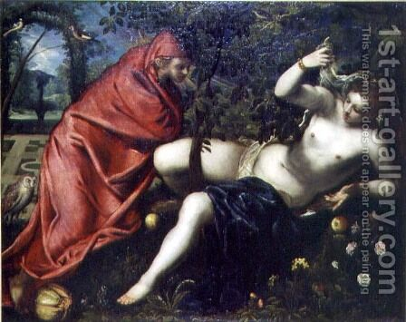 Angelica and the Hermit by Jacopo Tintoretto (Robusti) - Reproduction Oil Painting