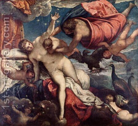 The Origin of the Milky Way, c.1575-80 by Jacopo Tintoretto (Robusti) - Reproduction Oil Painting
