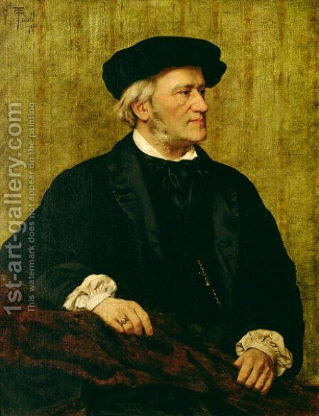Portrait of Richard Wagner 1813-83 1883 by Giuseppe Tivoli - Reproduction Oil Painting