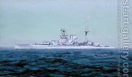 HMS Queen Elizabeth, 1927 by Duff Tollemache - Reproduction Oil Painting