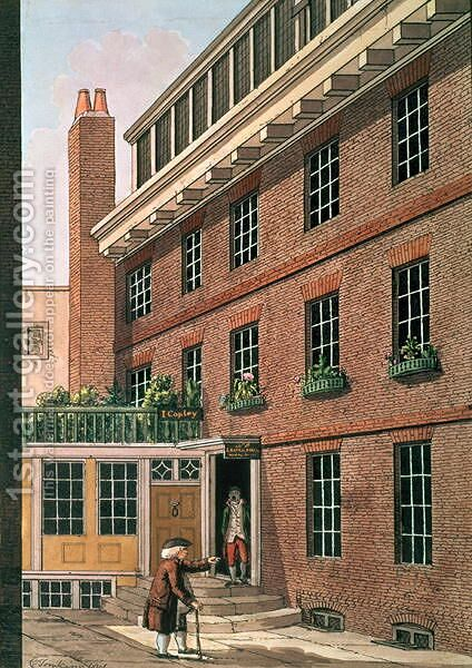 Dr Johnson and his servant, Francis at Bolt Court, Fleet Street, 1801 by Charles F. Tomkins - Reproduction Oil Painting