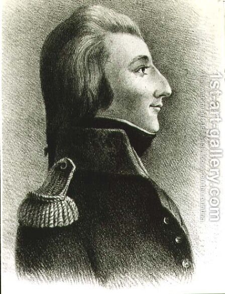 Theobald Wolfe Tone 1763-98, Irish republican and rebel by Catherine Tone - Reproduction Oil Painting