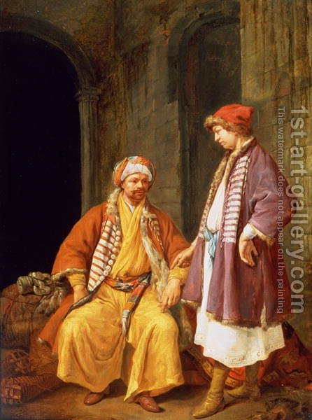 Two Merchants Conversing by Jacob Toorenvliet - Reproduction Oil Painting