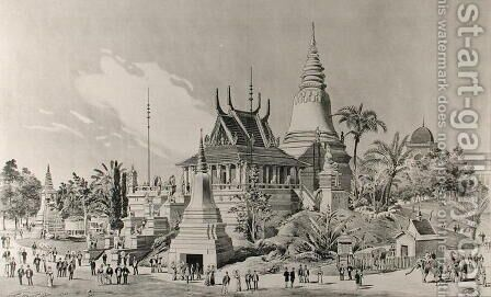 The Cambodian Palace at the Trocadero, the Universal Exhibition of 1900 by Henri Toussaint - Reproduction Oil Painting