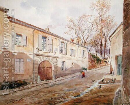 The House of Armande Bejart 1642-1700 in Meudon, c.1906 by Henri Toussaint - Reproduction Oil Painting