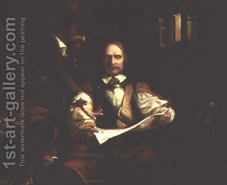 The Fatal Letter of Charles I by Henry James Townsend - Reproduction Oil Painting