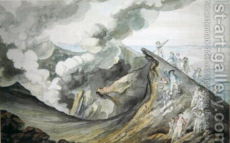 The Ascent of Vesuvius, 1785-91 by Henry Tresham - Reproduction Oil Painting