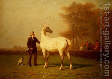 The Hunt by Charles Philogene Tschaggeny - Reproduction Oil Painting