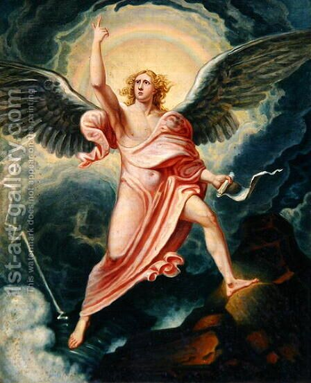 The Angel Proclaiming the End of Time by James Justus Tucker - Reproduction Oil Painting