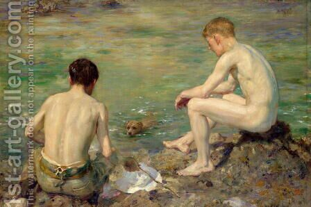 Three Companions by Henry Scott Tuke - Reproduction Oil Painting