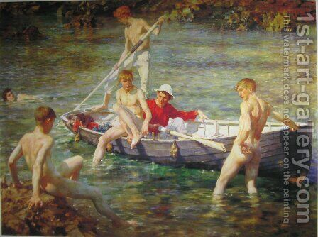 Ruby, Gold and Malachite, 1902 by Henry Scott Tuke - Reproduction Oil Painting