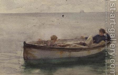 Two Boys in a Rowing Boat by Henry Scott Tuke - Reproduction Oil Painting