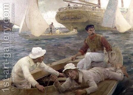 The Run Home, 1902 by Henry Scott Tuke - Reproduction Oil Painting