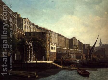 The Adelphi Terrace and York Watergate by Daniel Turner - Reproduction Oil Painting