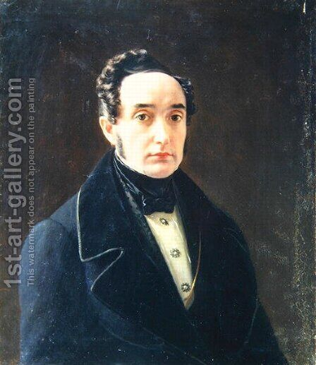 Portrait of the author Ivan Panayev 1812-62 by Alexei Vasilievich Tyranov - Reproduction Oil Painting