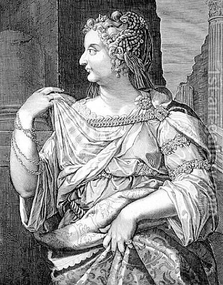 Domitia Longina wife of Domitian by Aegidius Sadeler or Saedeler - Reproduction Oil Painting