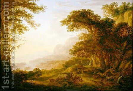 A Rhenish Landscape, 1643 by Herman Saftleven - Reproduction Oil Painting