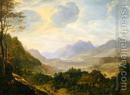 Rhenish landscape by Herman Saftleven - Reproduction Oil Painting