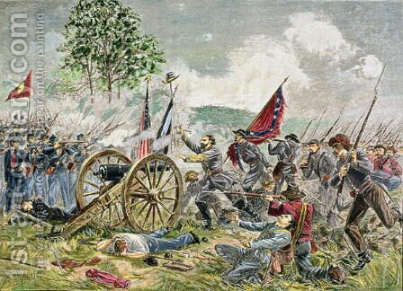 Picketts Charge, Battle of Gettysburg in 1863 by Charles Prosper Sainton - Reproduction Oil Painting