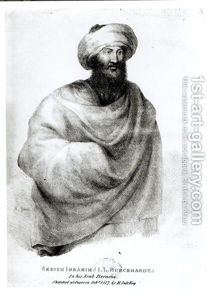 Portrait of Sheikh Ibrahim, or Johann Ludwig Burckhardt 1784-1817 1817 by (after) Salt, Henry - Reproduction Oil Painting