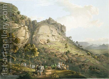 The Town of Abha in Abyssinia, engraved by J. Bluck fl.1791-1831 1809 by (after) Salt, Henry - Reproduction Oil Painting