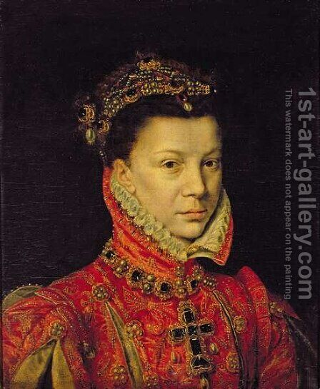 Elizabeth of Valois 1545-68 1570 by Alonso Sanchez Coello - Reproduction Oil Painting