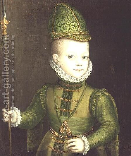 The Infante Don Felipe, c.1580 by Alonso Sanchez Coello - Reproduction Oil Painting