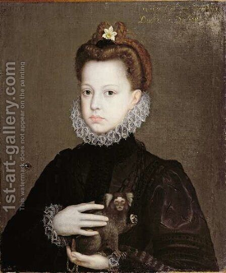 Infanta Isabella Clara Eugenia, Daughter of Philip II of Spain by Alonso Sanchez Coello - Reproduction Oil Painting