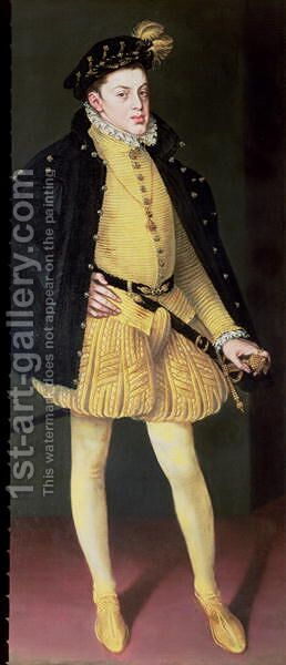 Don Carlos 1545-68, son of King Philip II of Spain 1556-98 and Maria of Portugal, 1564 by Alonso Sanchez Coello - Reproduction Oil Painting
