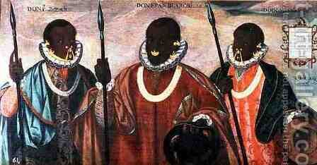 Warriors of the Esmereldas, 1599 by Adrian Sanchez Galque - Reproduction Oil Painting