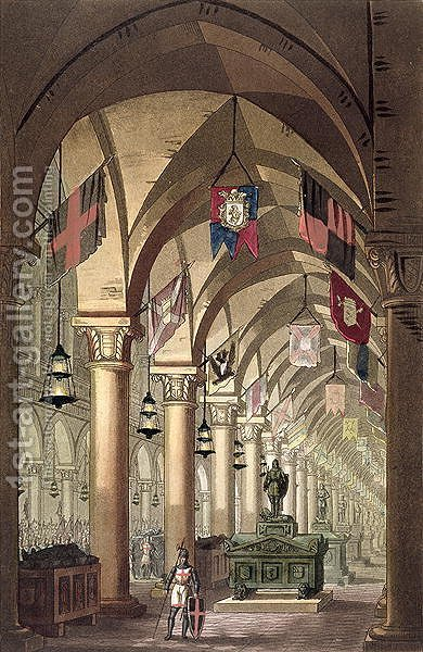 Tombs of the Knights Templar, c.1820-39 by Alessandro Sanquirico - Reproduction Oil Painting