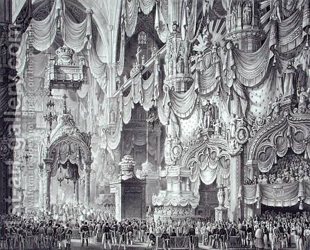 Coronation of Ferdinand I 1793-1875 in Milan Cathedral, 1st September 1838, engraved by Federico Cassina, from Incoronazione de SMIRA Ferdinando I, il Re del Regno Lombard-Veneto, published 1838 by Alessandro Sanquirico - Reproduction Oil Painting