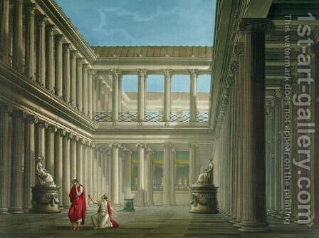 Interior of the Basilica in Pompeii, design for the opera LUltimo Giorno di Pompeii, 1827 by Alessandro Sanquirico - Reproduction Oil Painting