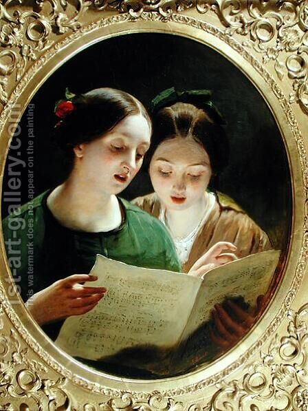 The Duet by James Sant - Reproduction Oil Painting