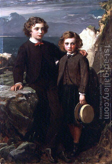 The Hon. Julian and the Hon. Lionel Byng by James Sant - Reproduction Oil Painting