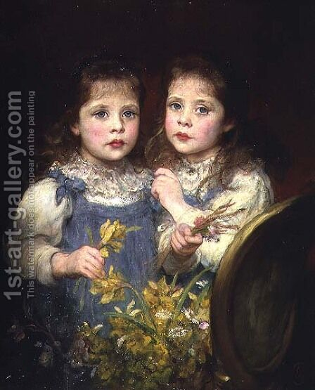 The Twins, c.1901 by James Sant - Reproduction Oil Painting