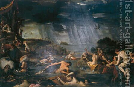 The Flood by Carlo Saraceni - Reproduction Oil Painting