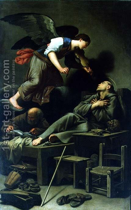 The Ecstasy of St. Francis by Carlo Saraceni - Reproduction Oil Painting