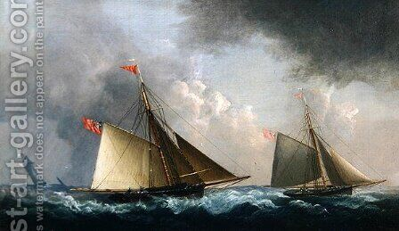 Cutter Yachts Racing by H. Sargeant - Reproduction Oil Painting