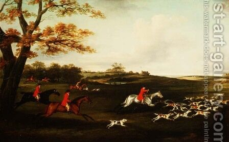 Hunting Scene by J. Francis Sartorius - Reproduction Oil Painting