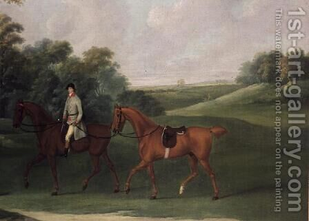 Rider leading a horse, c.1810 by J. Francis Sartorius - Reproduction Oil Painting