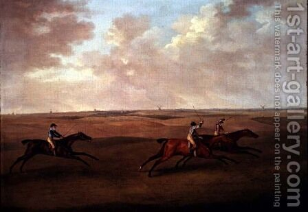 Newmarket Races, 1810 by J. Francis Sartorius - Reproduction Oil Painting