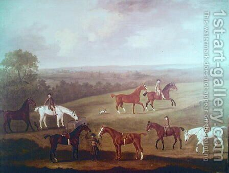 Horses at Exercise by J. Francis Sartorius - Reproduction Oil Painting