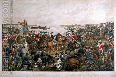 Battle of Waterloo, 1815, engraved by J.A. Cook, 1816 by (after) Sauerweld, A. - Reproduction Oil Painting