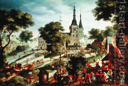 The Village Kermesse by Jacob I Savery - Reproduction Oil Painting