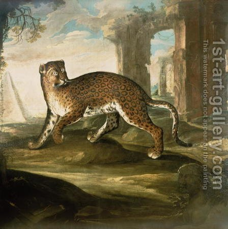 A Jaguar by Andrea Scacciati - Reproduction Oil Painting