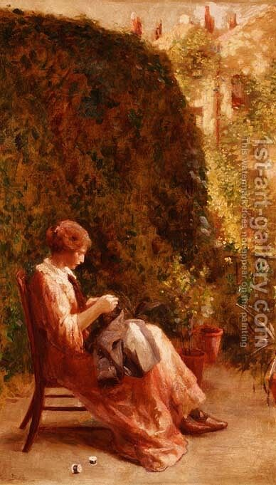 On the Balcony by Henry Thomas Schafer - Reproduction Oil Painting