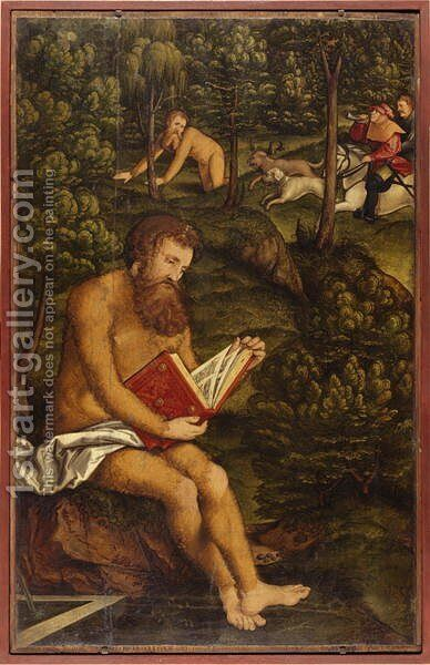 St. Onipherus, 1520 by Hans Leonhard Schaufelein - Reproduction Oil Painting