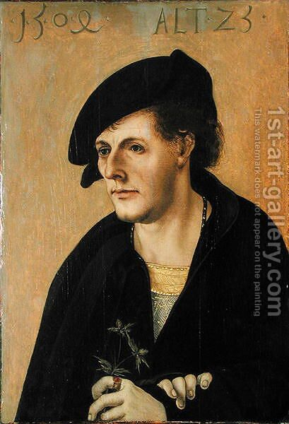 Portrait of a Young Man, c.1504 by Hans Leonhard Schaufelein - Reproduction Oil Painting